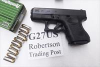 Glock  .40 S&W Model 27 Subcompact 3rd Gen NIB G27US 2 Magazines 10 Shot 40 Smith & Wesson Caliber PI2750201 type