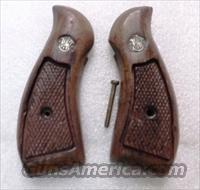 Smith & Wesson Grips K Round Magna Amateur Conversion from K Square Walnut Fits K or L Frame Round Butt Revolvers factory S&W