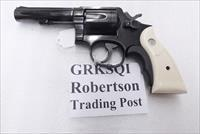 S&W K or L Frame Square Butt Imitation Ivory Revolver Grips for Smith & Wesson models 10 15 19 64 65 66 with Medallions GRKSQI Smith & Wesson Smooth Magna Small Type with Screw & Escutcheon