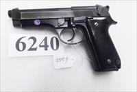 Beretta 9mm model 92S Italy Military Police Italian Carabinieri VG 1977 First Year w1 15 round Magazine Factory Gloss Anodized Frame, Oxide Finish Slide & Barrel VGM
