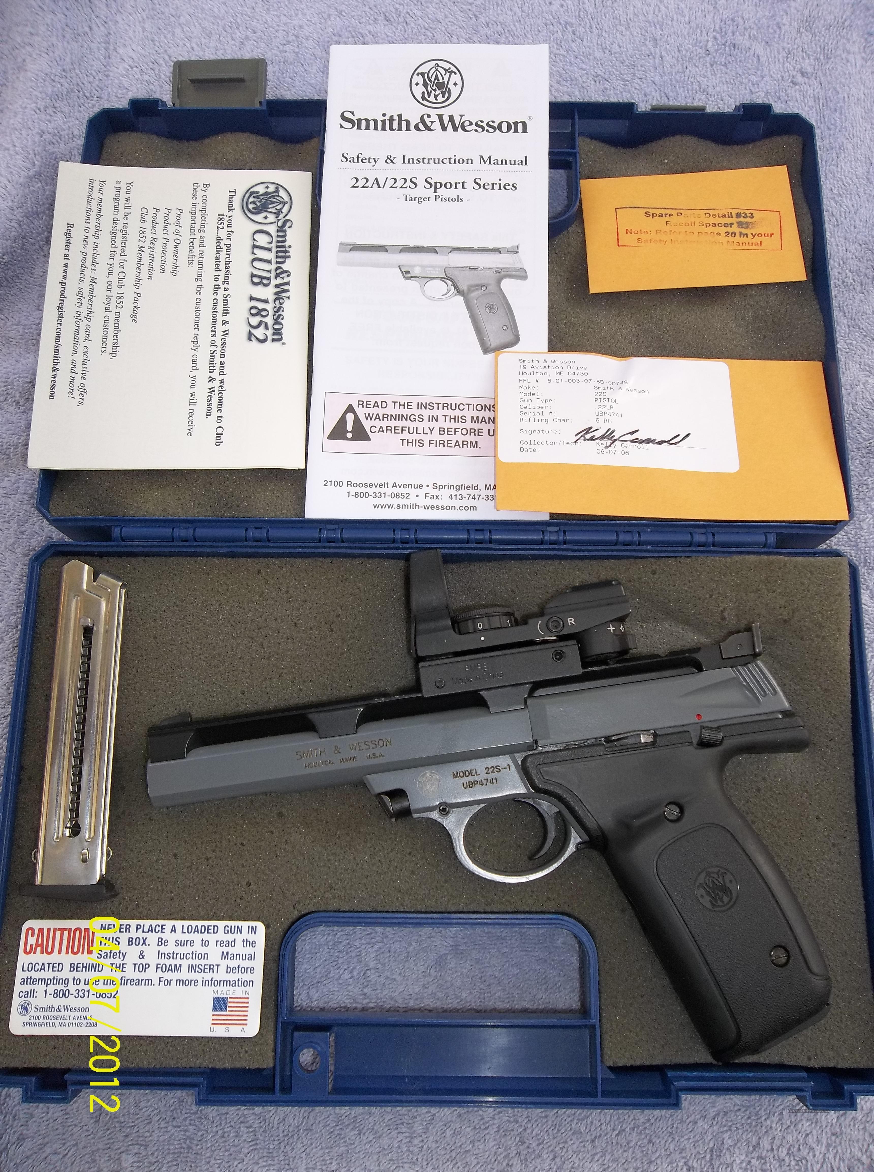 smith wesson 22s for sale rh gunsamerica com Smith and Wesson 22A Magazine Smith and Wesson Guns