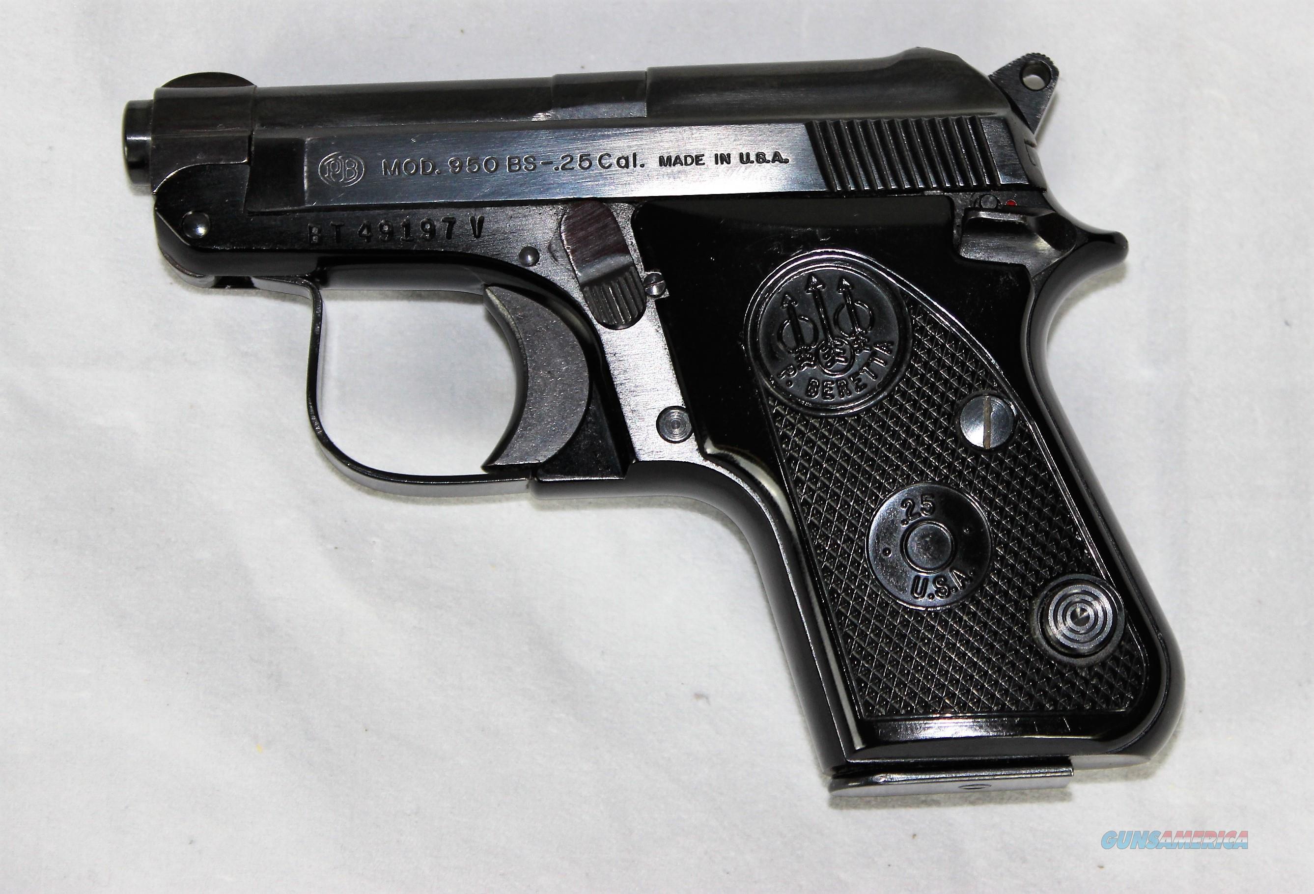 Beretta 950 BS  25 cal pistol, tip up barrel