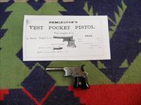 REMINGTON VEST POCKET OISTOL ENGRAVED