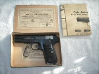 COLT MODEL 1903 POCKET CAL.32ACP PISTOL IN ORIGINAL BOX IN EXCELLENT ORIGINAL CONDITION