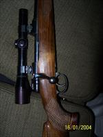 Large Ring 98 Mauser 8x57mm HVA rifle, fancy stock.
