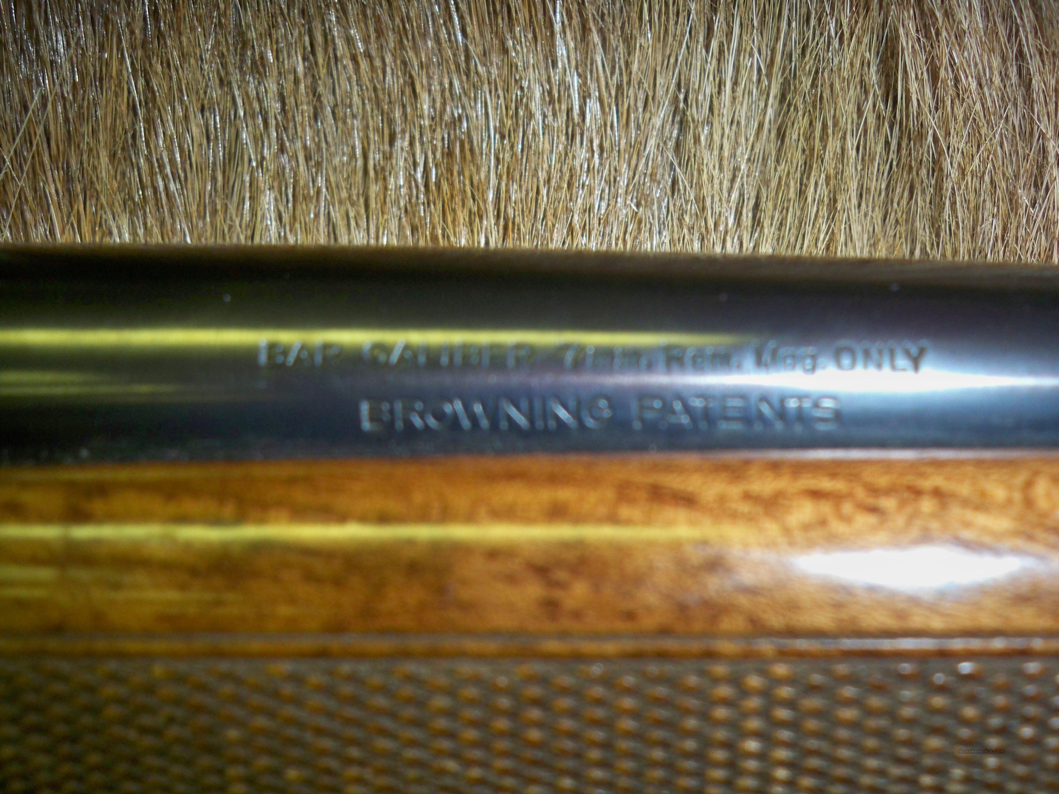 Browning 7mm mag wood stock