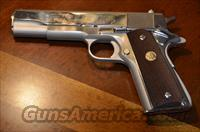 COLT SERIES 70 GOVERNMENT MK IV MODEL 1911 Nickel .45ACP (1971 Manuf,)