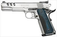"S&W 1911 PC 170343 45ACP 5"" SS G10 BLUE GRIPS NEW 45 ACP PERFORMANCE CENTER 1911 STAINLESS STEEL"