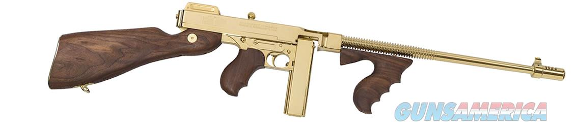 AUTO ORDNANCE THOMPSON TITANIUM GOLD 1927-A1 45ACP GOLD TOMMY GUN! T150DTG  45 ACP 50RD GOLD DRUM & 20RD GOLD STICK MAG