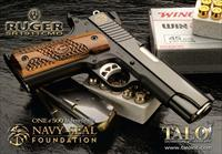 "RUGER NAVY SEAL COMMANDER SR1911 45 ACP NIB 45ACP  SR 1911 4.25"" BLUED TALO 6704 45ACP # OF 500 SEALS"
