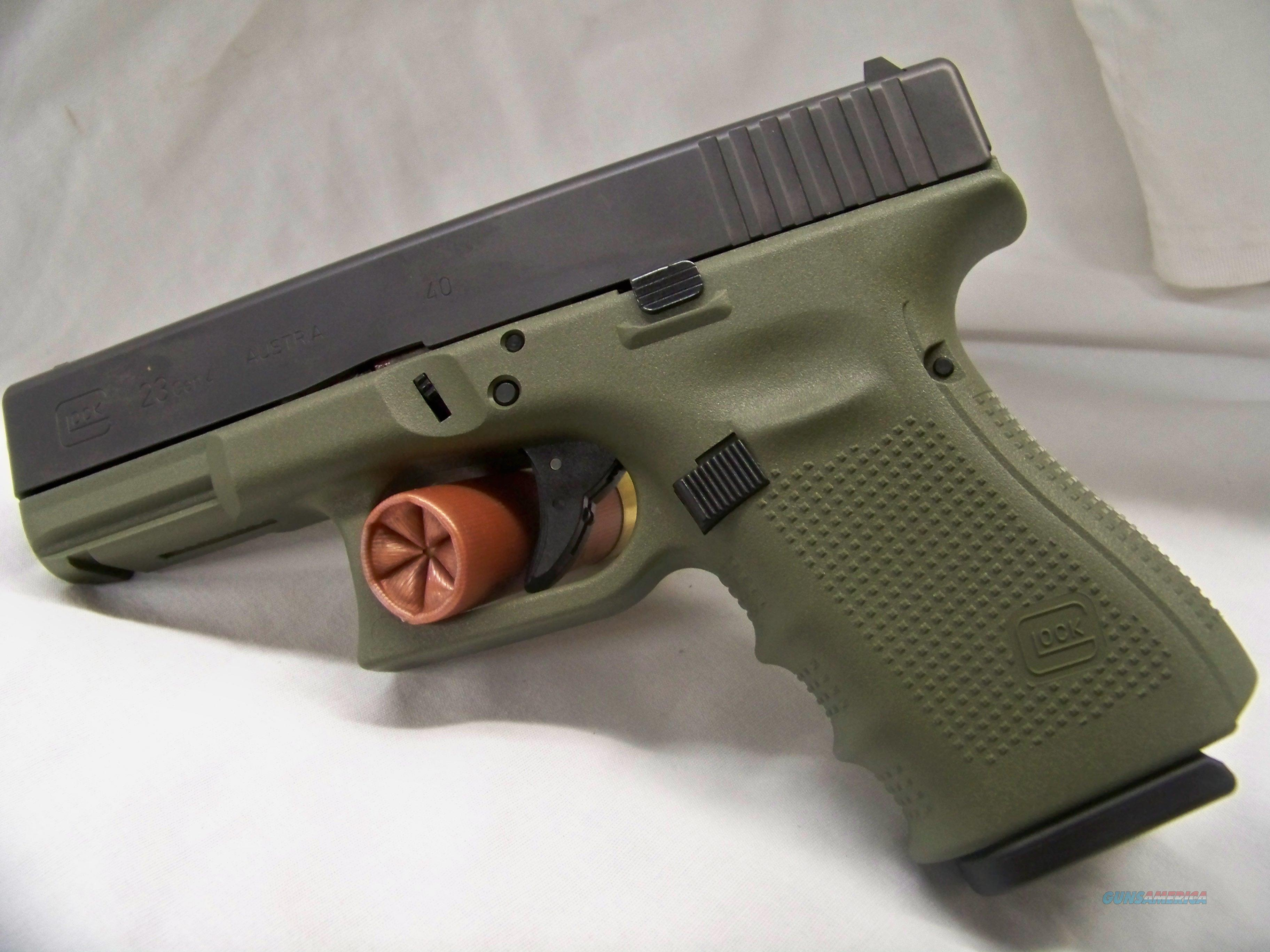 Glock 23 Gen 4 OD Green Frame for sale