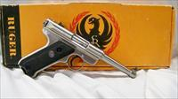Ruger MKII Standard Pistol Stainless 4.75