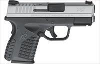 Springfield XDS 9 Slim 7+1 rds 3.3 Barrel Stainless Steel Slide