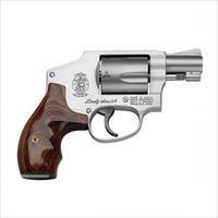 "Smith & Wesson 163808 642 LadySmith DA 38 Special 1.875"" 5 Rds Wood Grip Stainless"