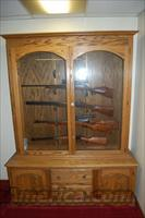Gun Cabinet,Solid Oak, Holds 10 Guns in Beautiful Display