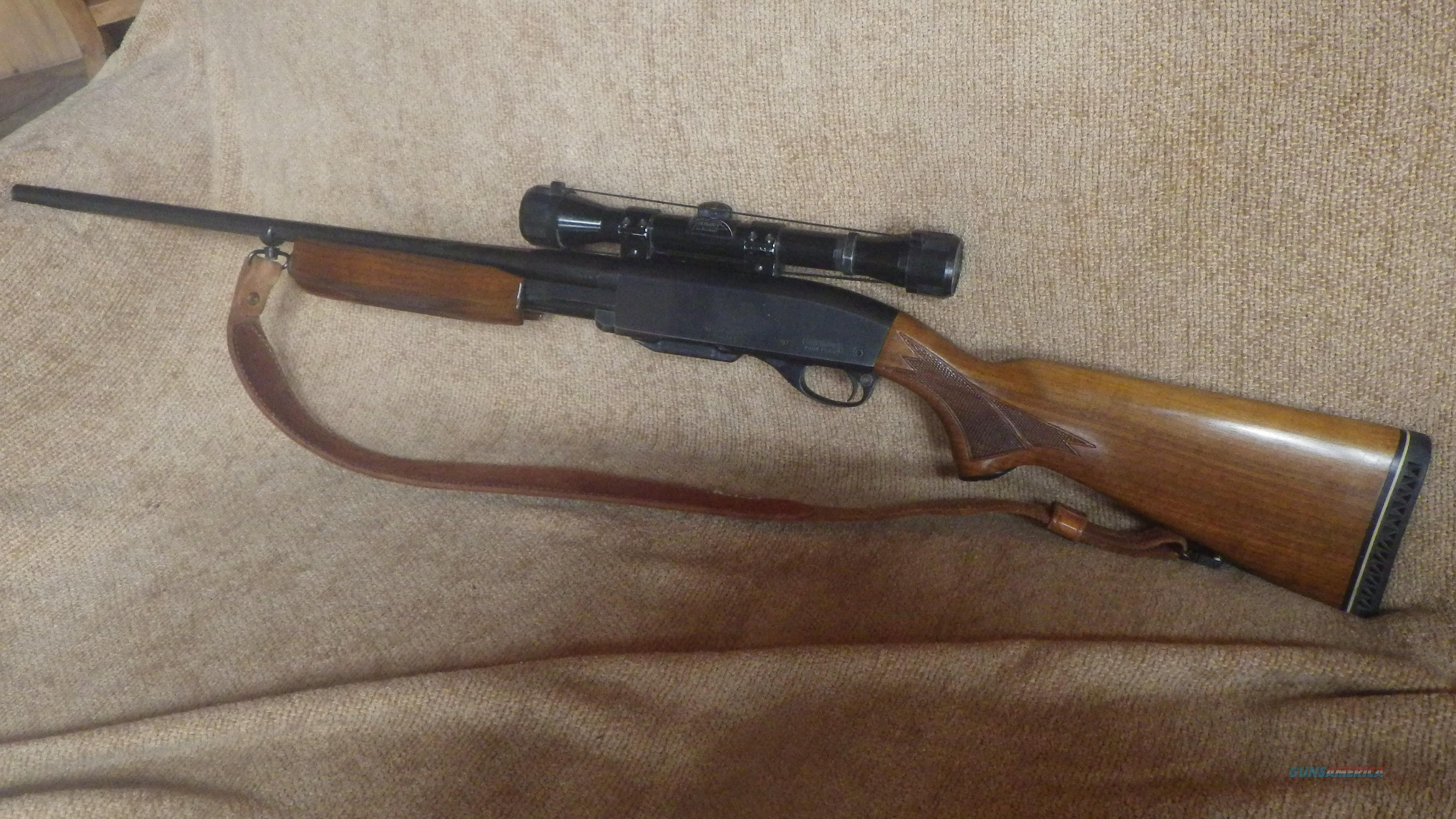 VINTAGE REMINGTON 760 GAMEMASTER 270 PUMP ACTION RIFLE  4X Bushnell Scope  and Sling included