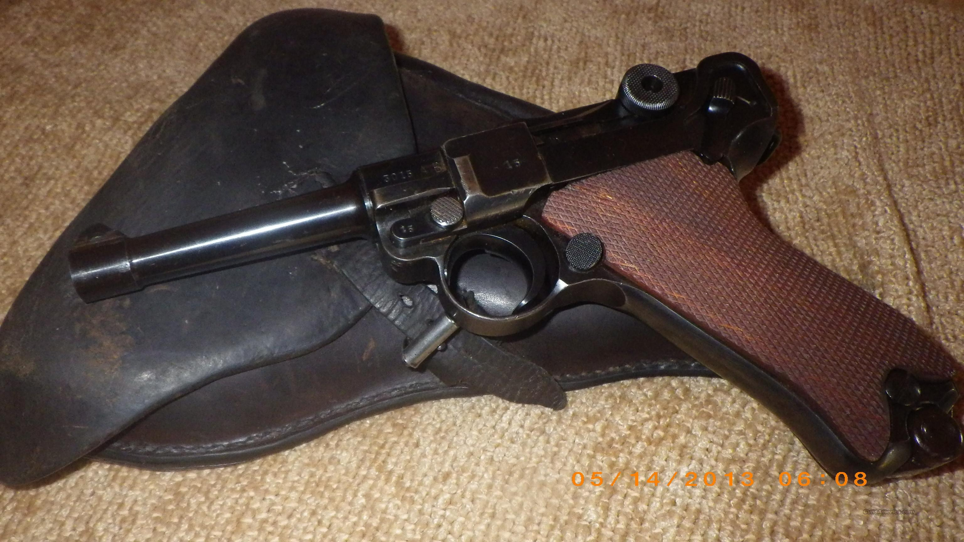 German Luger S/42 Dated 1937 Serial #3015 with AB Suffix Includes Holster