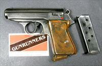 Walther PPK Pre-War 7.65 (.32 ACP) RARE 90 degree Safety,  2 mags