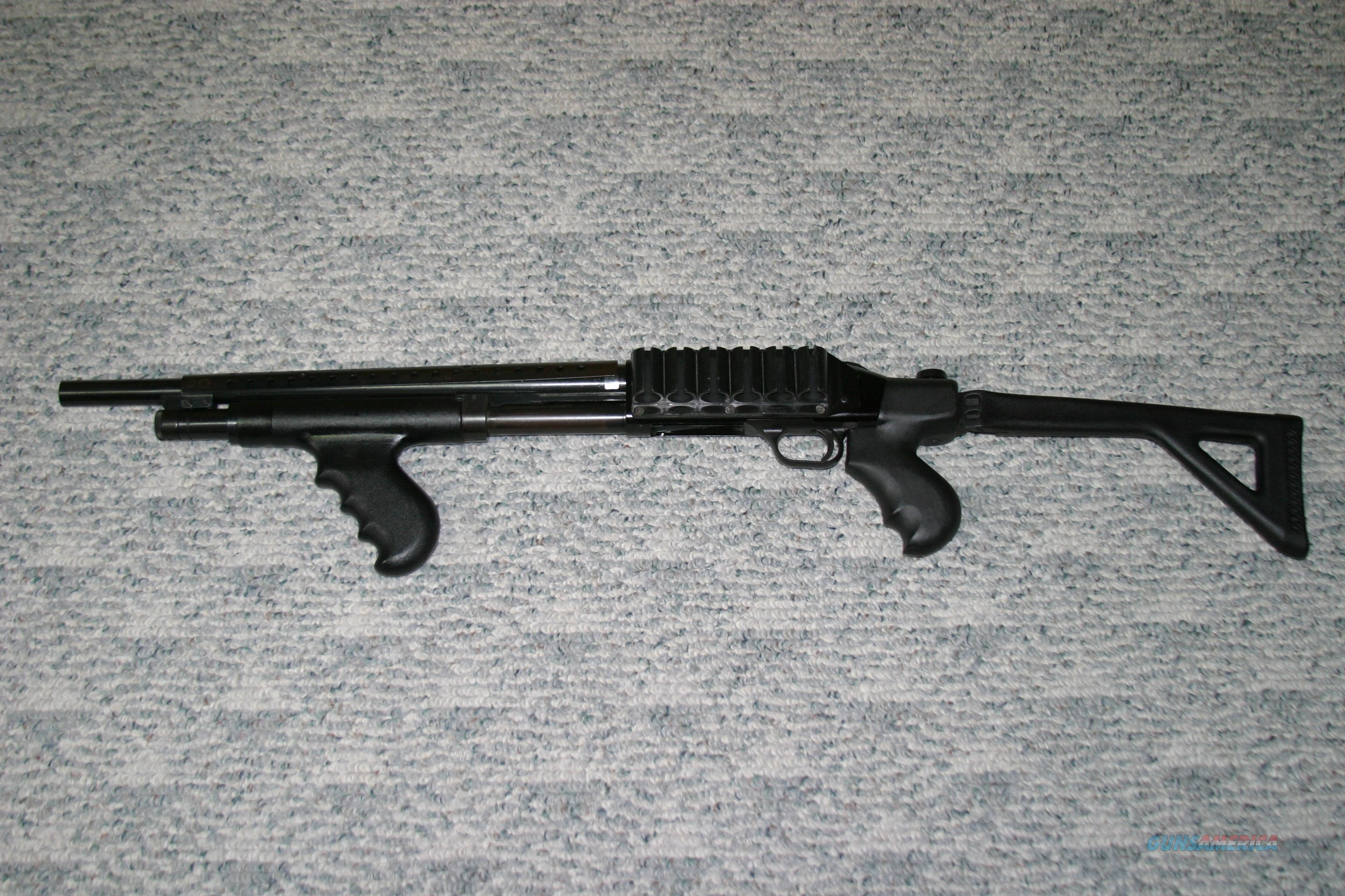 Mossberg 500 Dual Pistol Grip Shotgun with Folding Stock, Heat Shield and  Shell Holder