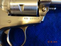 RUGER SINGLE SIX IN STAINLESS STEEL WITH 22 & 22 mag cylinders