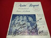 ANITA BRYANT AUTOGRAPHED & DATED PHOTO ALBUM - FREE SHIPPING!