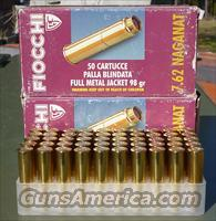 FIOCCHI 7.62 NAGANT AMMO 98GR FMJ 50 ROUNDS - FREE SHIPPING!!