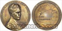 CHARLES LINDBERGH 1927 FRENCH COMMEMORATIVE MEDALLION - FREE SHIPPING!