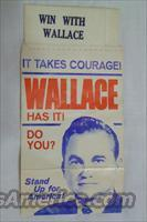"GEORGE WALLACE 1968 ""WIN WITH WALLACE"" POCKET SQUARE - FREE SHIPPING!"