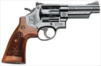 SW 29 44MAG 4 ENGRAVED 6RD BLUED