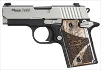 SIG P938 9MM BLACKWOOD 2TONE NS AMBISAFETY 6RD