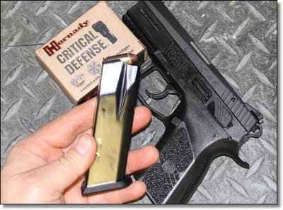12 rounds of .40 S&W is enough punch for most duty environments, and the P-07 does come with one extra magazine.