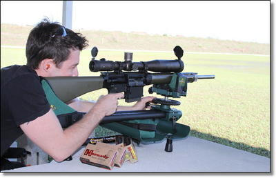 Our resident US Army Sniper Ben Becker did the accuracy testing with the AR-10 and he had some interesting results.