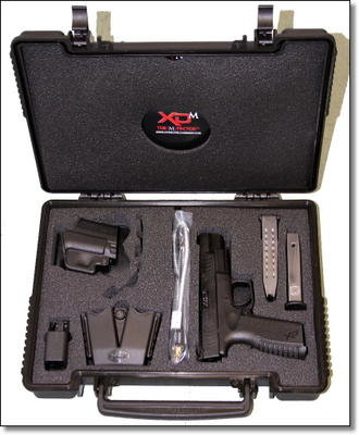 This XD(M) comes with all of the standard case candy of the XD(M) line, including a holster, magazine holster, extra 19 round magazine and grip inserts for different sized hands.