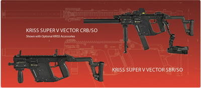 The SBR version of the KRISS is sold through Class 3 dealers, or KRISS can modify your gun once you have your Form 1 approved by BATFE.