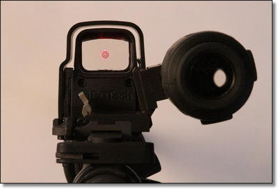 This is the shooter's perspective. The pictures don't really do it justice though. This is a really sweet piece of gear