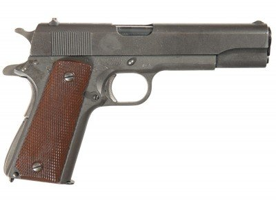 This old girl may not look like much, but you'd be surprised what an Ithaca 1911 is worth to a collector.