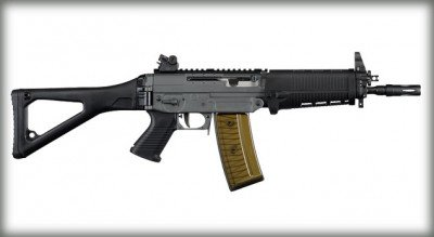 All of the Sig rifle designs will be available in SBR configurations this year. This is a 10 version of the 551-A1.