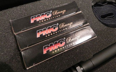 "Stag's ESK comes with 60 rounds of what the company calls ""quality""ammunition. The example at SHOT Show contained boxes of PMC Bronze."