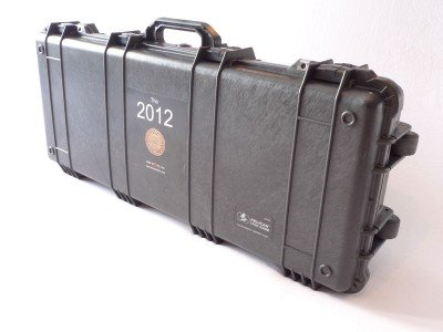 The ESK's military grade Pelican 1700 Long Case is darn near bullet-proof and has more locking points than a Victorian-era chastity belt.