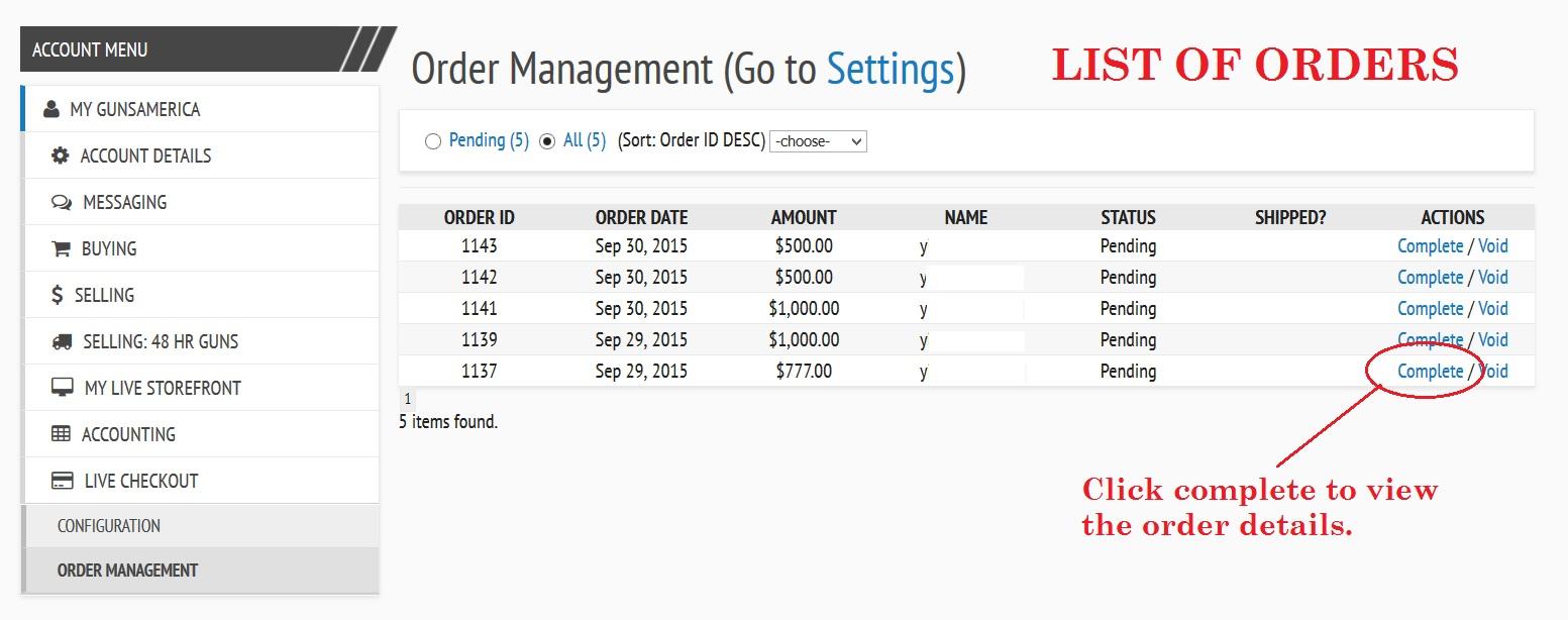 Live Checkout Order Management
