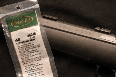 The American doesn't use the Model 77 rings and bases. It takes standard #46 Weaver base, and it actually comes with them, though for some reason the previous reviewer of this particular rifle had left them out of the box when he returned it and we had to go buy some at Bass Pro