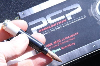 PCP Ammunition is the polymer cased ammo company that seems to be actually coming to market. We have all seen a lot of ideas come and go, but they have a product that appears to have worked the bugs out of the plastic disposable rifle ammo case. It saves 30-50% of the weight, and could potentially improve performance and accuracy.