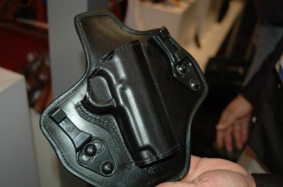 The Suppression (model 135) is an IWB holster that is held on with C clips.