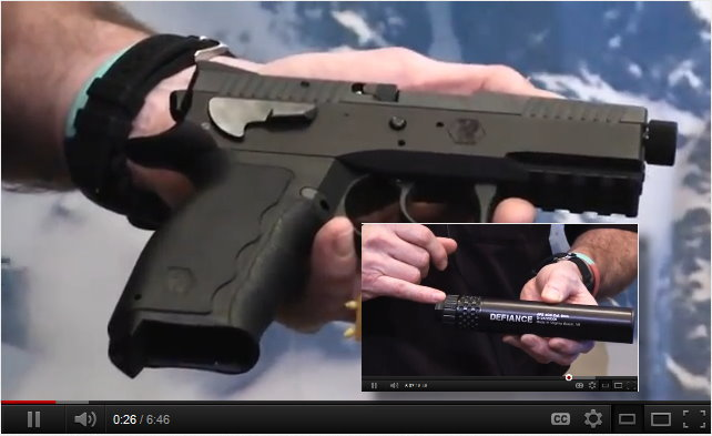 Sphinx Pistols and Defiance Suppressors  – VIDEO POST