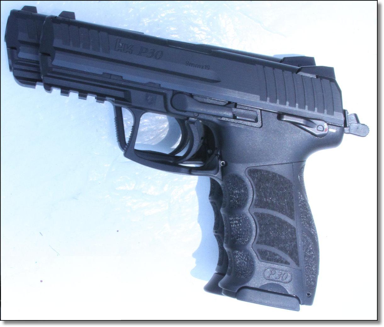 Heckler & Koch Pistol Shootout P30 vs  HK45 - GunsAmerica Digest