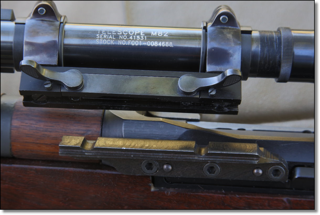 M1 Garand Sniper Variants M1c M1d Part 4 Garands From The Each Of 60 Parts Az With Images Diagrams And Rings Are Held By A Sliding Bar That Is Detachable Plate Mounted To Rifle It An Elegant System