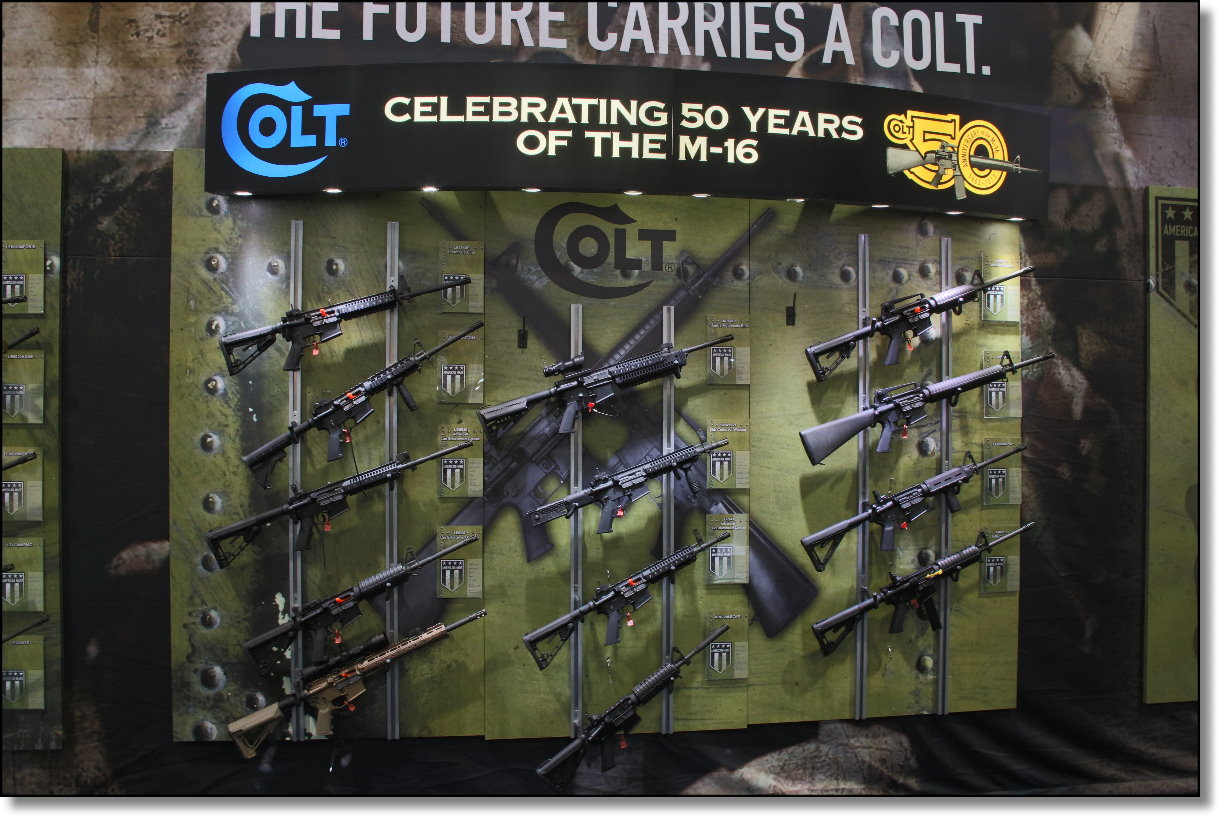 Wall of guns Colt Defense m16