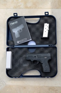 Beretta includes a pistol lock, two magazines, and a hard plastic case with each Nano.