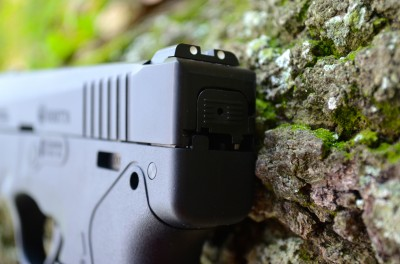 The 3-dot sights are excellent, and are even user-adjustable for windage.  The sights are also easy to swap if desired.