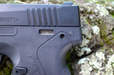 "The Technopolymer grip frame has a window to view the serial number on the stainless steel sub-chassis below—which is the serialized ""firearm"" portion of the pistol."